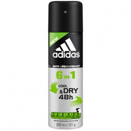 ADIDAS - Anti-Transpirant COOL AND DRY 48H 6 en 1