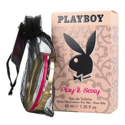 PLAYBOY - Eau de toilette + Bracelet - PLAY IT SEXY