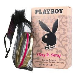 PLAYBOY - Eau de toilette + Bracelet - PLAY IT SEXY