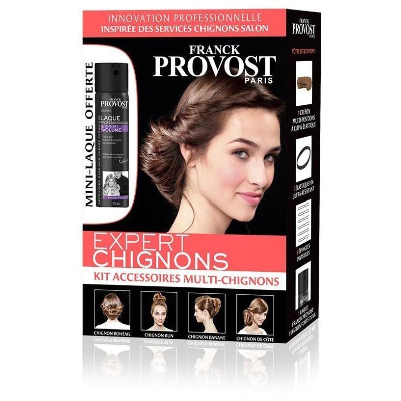 Franck Provost - Kit Accessoires Multi-chignons EXPERT CHIGNONS - Pour Coiffure Salon Avec Mini-Laque