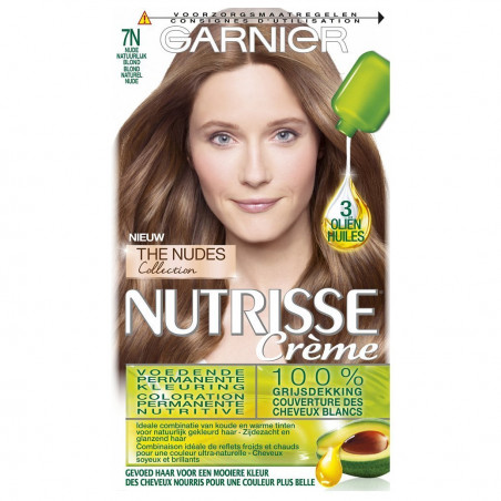 GARNIER - Coloration CRÈME NUTRISSE - 7N Blonde Naturelle Nude
