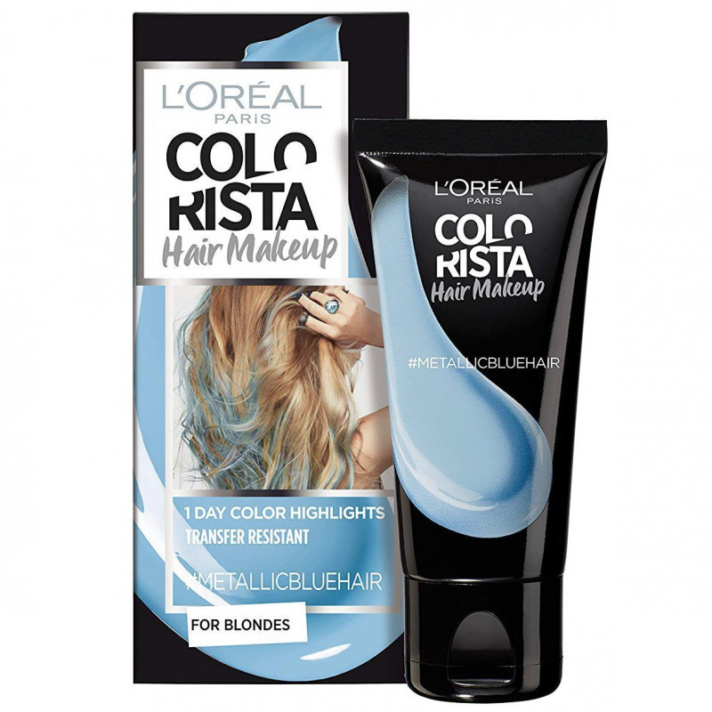 L'ORÉAL - Coloration Éphémère COLORISTA HAIR MAKE-UP - Metallic Blue