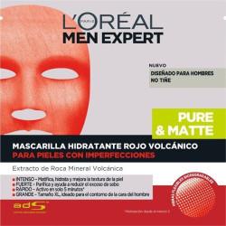 L'ORÉAL - Masque Hydratante MEN EXPERT Pure&Matte - Peaux à Imperfections