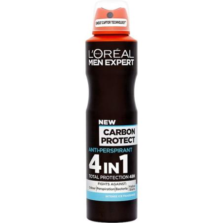 L'ORÉAL - Anti-Transpirant MEN EXPERT - Carbon Protect 4 en 1