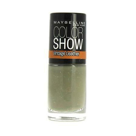 Maybelline New York - Vernis COLORSHOW VINTAGE LEATHER - 208 Sage Staple Green