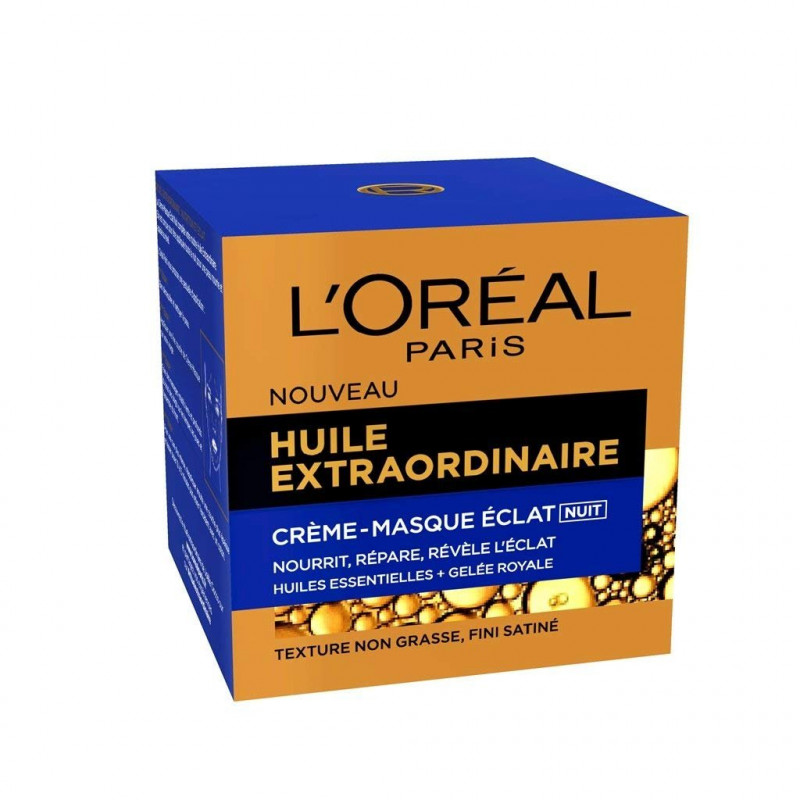 L'OREAL - HUILE EXTRAORDINAIRE - Crème-Masque Éclat Nuit