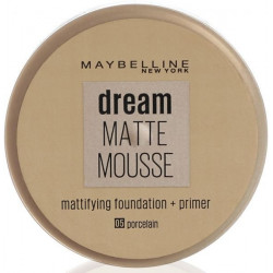 Maybelline New York - Fond De Teint DREAM MAT MOUSSE + Base Matifiante - 05 Porcelaine