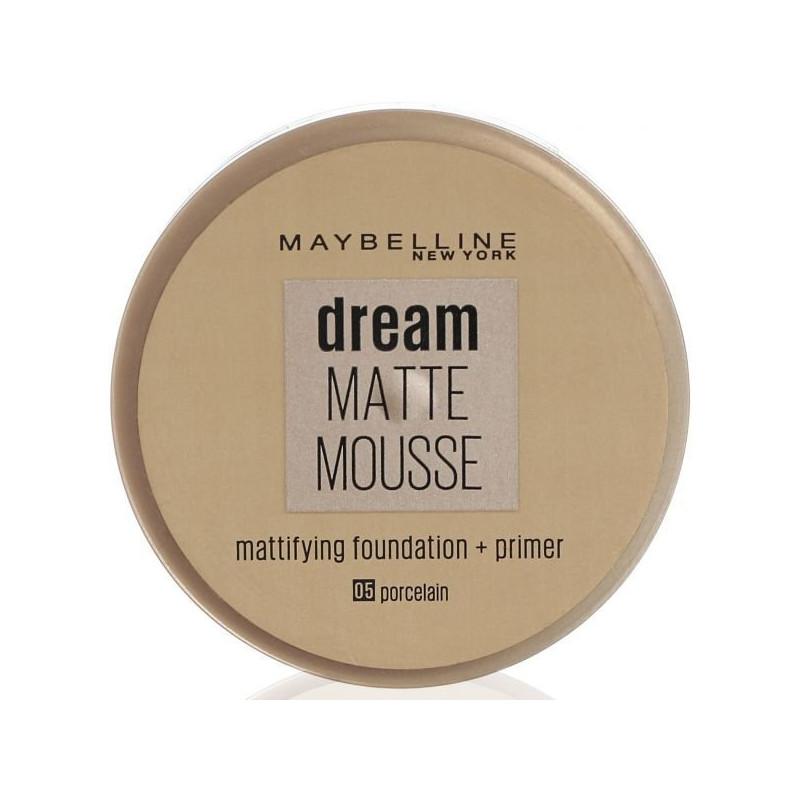 GEMEY MAYBELLINE - Fond De Teint DREAM MAT MOUSSE + Base Matifiante - 05 Porcelaine