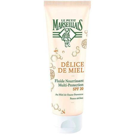 LE PETIT MARSEILLAIS - Fluide Nourrissant Multi-protection SPF20 DÉLICE DE MIEL - 50 ml