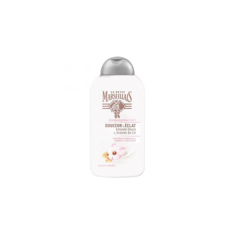 LE PETIT MARSEILLAIS - Shampoing Doux 2 en 1 DOUCEUR & ÉCLAT - Amande Douce & Graine de Lin