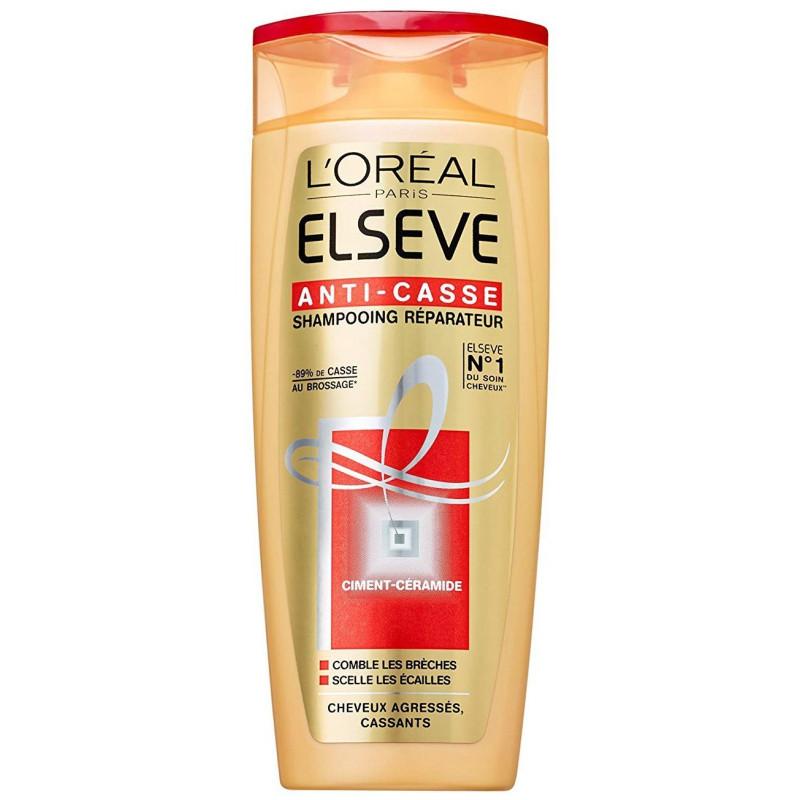 L'ORÉAL - Shampoing Réparateur ELSEVE ANTI-CASSE - Ciment - Céramide