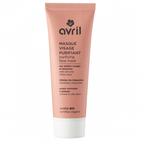 AVRIL - Masque Visage Purifiant Certifié Bio - 50ml