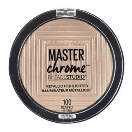 Maybelline New York - Poudre Enlumineur Métallique MASTER CHROME - 100 Molten Gold