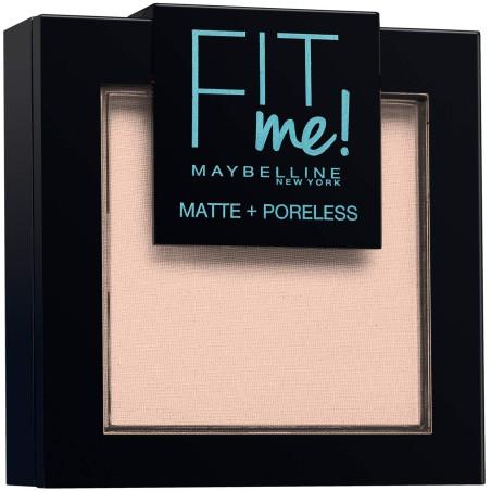 Maybelline New York - Poudre ton sur ton matifiante FIT ME MATTE & PORELESS - 102 Ivoire Clair
