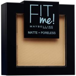 Maybelline New York - Poudre ton sur ton matifiante FIT ME MATTE & PORELESS - 250 Beige Ensoleillé