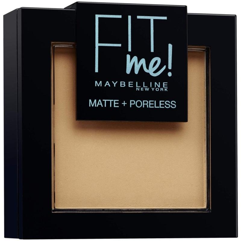 GEMEY MAYBELLINE - Poudre ton sur ton matifiante FIT ME MATTE & PORELESS - 250 Beige Ensoleillé