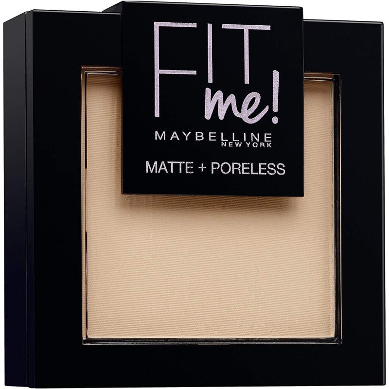 GEMEY MAYBELLINE - Poudre ton sur ton matifiante FIT ME MATTE & PORELESS - 130 Buff Beige