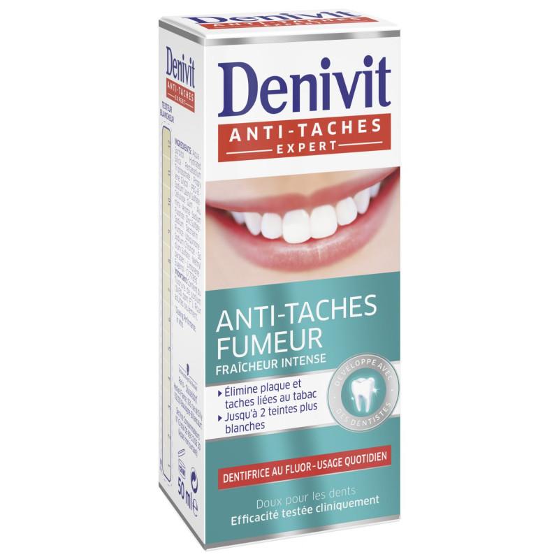 DENIVIT - Dentifrice Anti-Tache Fumeur - Tube 50 ml