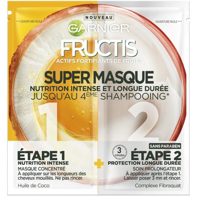 FRUCTIS - Super Masque Nutrition Intense et Longue Durée - Huile de Coco