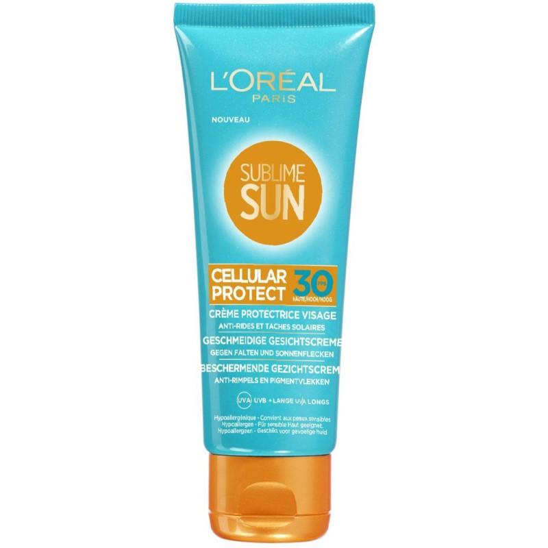 L'ORÉAL - SUBLIME SUN Crème Fondante Visage CELLULAR PROTECT 30 FPS - 75ML
