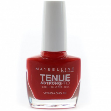 GEMEY MAYBELLINE - Vernis TENUE & STRONG PRO - 08 Rouge Passion
