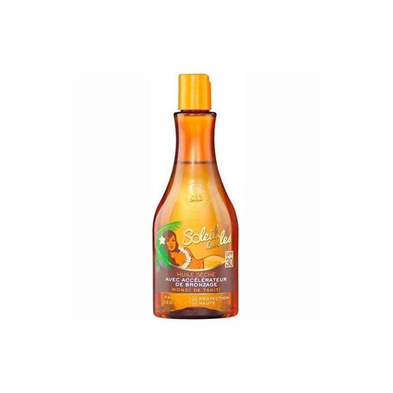 Soleil Des Îles - Huile Sèche Avec Accélérateur de Bronzage SPF 30 - 150 ml
