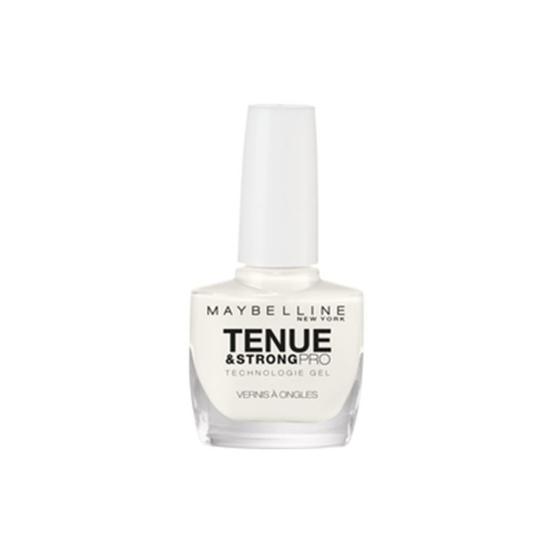 GEMEY MAYBELLINE - Vernis TENUE & STRONG PRO - 71 Blanc Pur