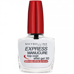 Maybelline New York - Vernis à Ongle Top Coat EXPRESS MANUCURE - Effet Gel 3D