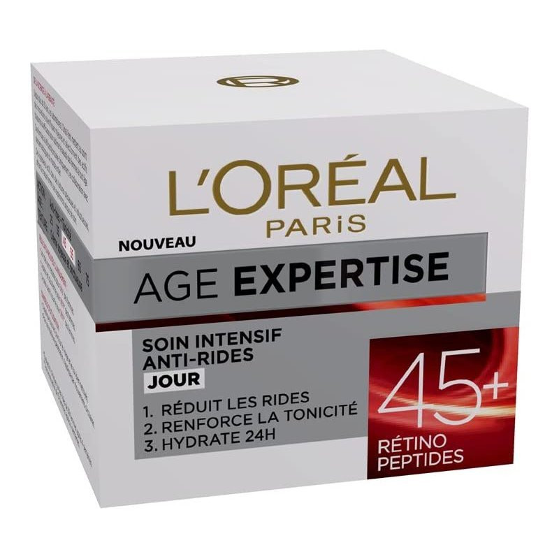 L'Oréal Paris - Soin de Jour Hydratant Anti-Rides Intensif AGES EXPERTISES - 45+ 50ML