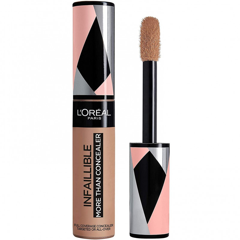 L'Oréal Paris - More Than Concealer Correcteur et Fond de Teint 2 En 1 INFALLIBLE - 334 Noyer 11ml
