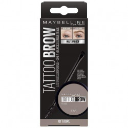 Maybelline New York - Cire à Sourcils Longue Tenue Pomade Waterproof TATTOO BROW - 01 Taupe 65g