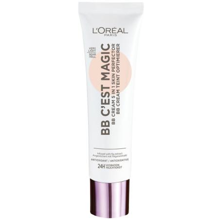 L'Oréal Paris - BB Crème Perfecteur de Teint 5 en 1 BB C'est Magic - Très Clair