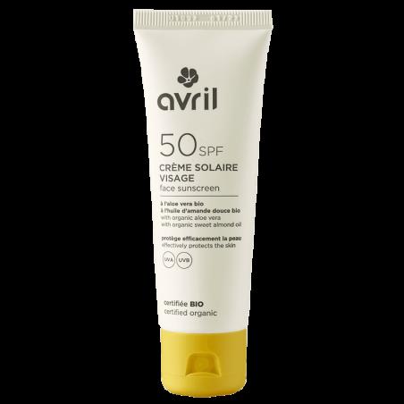 Avril - Crème Solaire Visage SPF 50 50ml - Certifié Bio