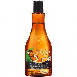 Soleil Des Îles - Pur monoï de Tahiti 98% Bronzage Intense SPF0 - Parfum Des Îles 150 ml