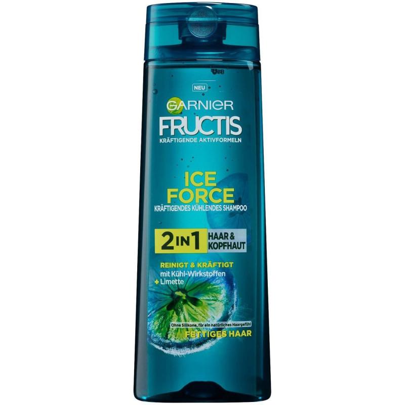 Garnier - Shampooing Rafraîchissant Vivifiant 2En1 FRUCTIS ICE FORCE