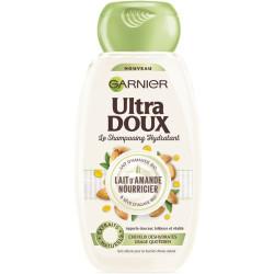 Garnier - Shampooing Hydratant Au Lait D'Amande Nourricier ULTRA DOUX 300Ml