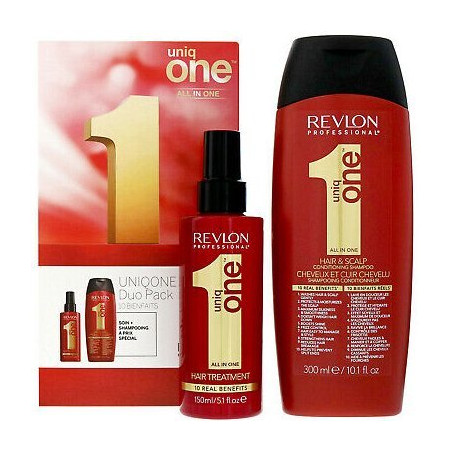 Revlon - Shampooing Soin Démêlant 300Ml + Masque Sans Rinçage 150Ml UNIQ ONE
