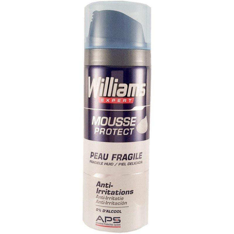 Williams - Mousse à raser MOUSSE PROTECT- Peau Fragile 200Ml
