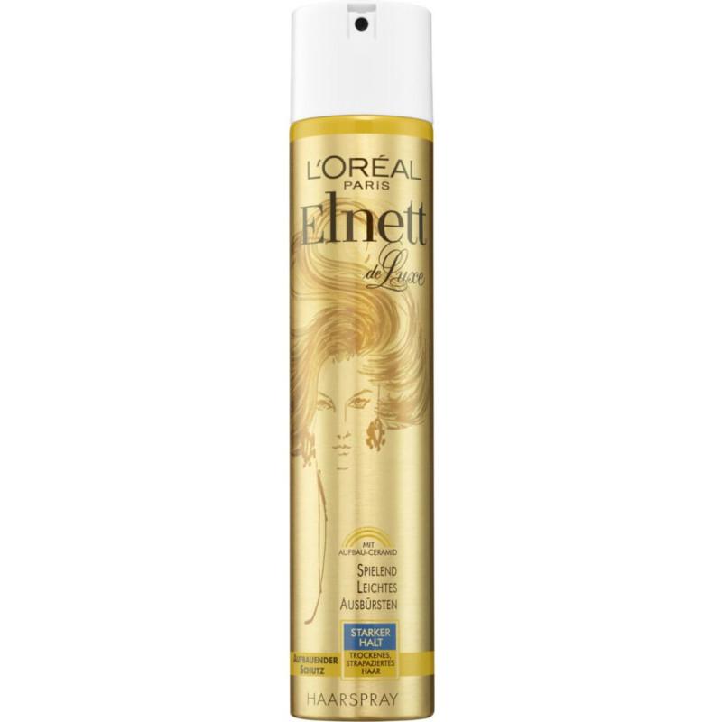 L'Oréal Paris - Laque Elnett Fixation Forte DE LUXE 300Ml - Cheveux Secs ou Abîmés