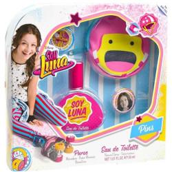 Soy Luna - Coffret d'Eau de Toilette 30 ml + Porte-Monnaie + Badges -