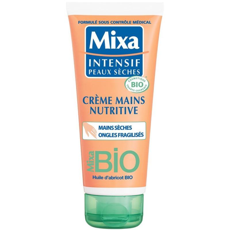 Mixa - Crème Mains Nutritive BIO - Mains Sèches Ongles Fragilisés 100Ml
