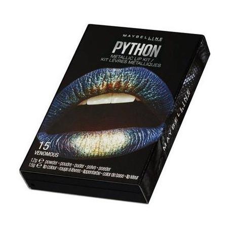 Maybelline New York - Kit Rouge à Lèvres Métalliques PYTHON - 15 Venomous