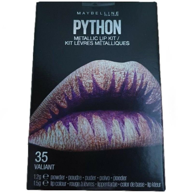 Maybelline New York - Kit Rouge à Lèvres Métalliques PYTHON - 35 Valiant