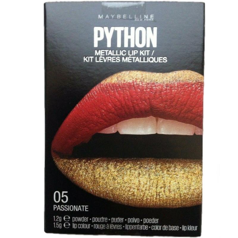 Maybelline New York - Kit Rouge à Lèvres Métalliques PYTHON - 05 Rouge Or Passionné