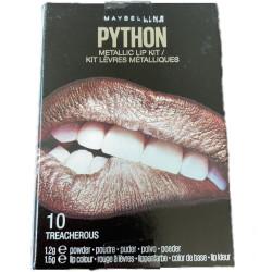 Maybelline New York - Kit Rouge à Lèvres Métalliques PYTHON - 10 Treacherous
