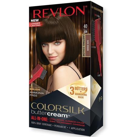 REVLON - Coloration Permanente Butter Cream COLORSILK - 40 Marron Foncé