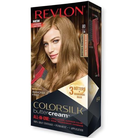 REVLON - Coloration Permanente Butter Cream COLORSILK - 80 Blond Naturel Moyen