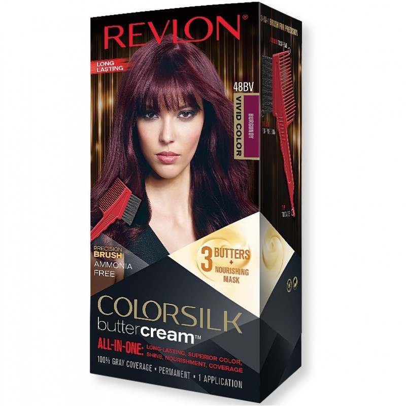 REVLON - Coloration Permanente Butter Cream COLORSILK - 48BV Bourgogne