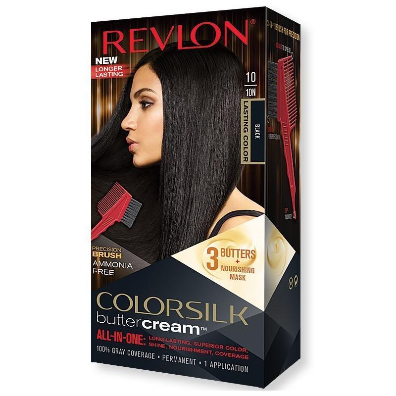 REVLON - Coloration Permanente Butter Cream COLORSILK - 10 Noir