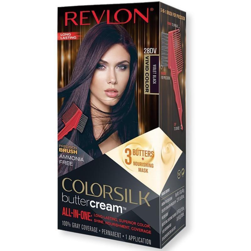 REVLON - Coloration Permanente Butter Cream COLORSILK - 28DV Violet Noir